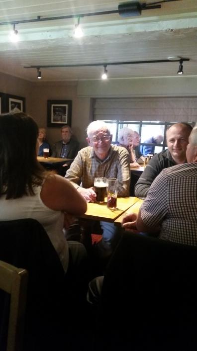 Members enjoying a meal to celebrate 50 years!