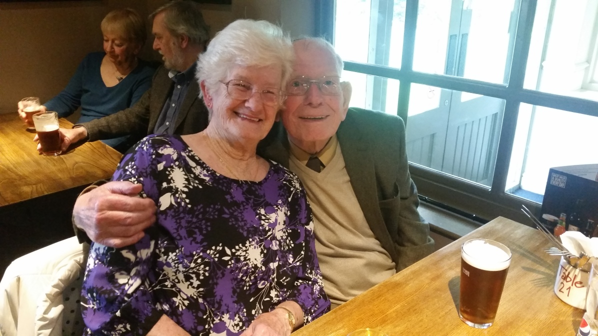 Founder member Charlie Brown and his lady Marian