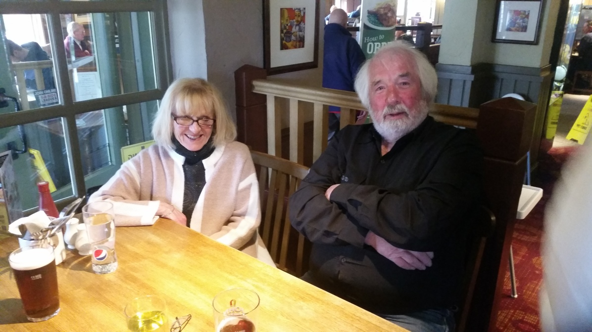 Pearl Stanley, wife of founder member Dave Stanley with Pete Marston, long standing club member